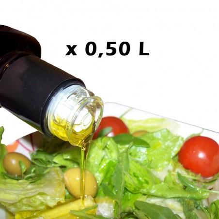 EXTRA VIRGIN OLIVE OIL SAINT LUCIA BLEND BOTTLE 0,50 L WITH CAP ANTIFILLING FOR RESTAURANTS