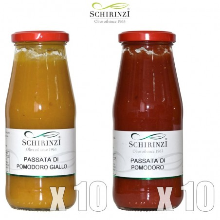 Mixed tomato sauce (10+10) red and yellow from Apulia