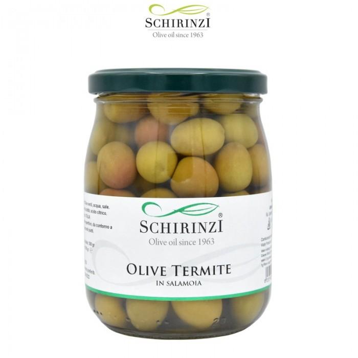 Grüne Oliven Termite in Salzlake 500 gr.