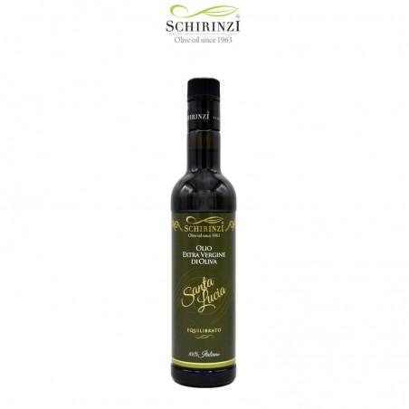Bottiglia 0,50 L con tappo antirabbocco olio extravergine Santa Lucia equilibrato