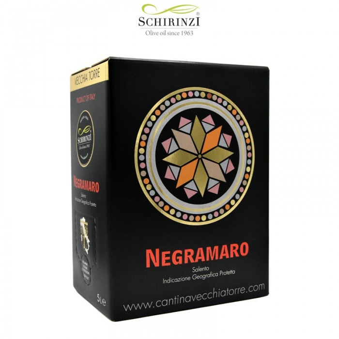 Negroamaro red IGP Salento wine bag in box 5 L