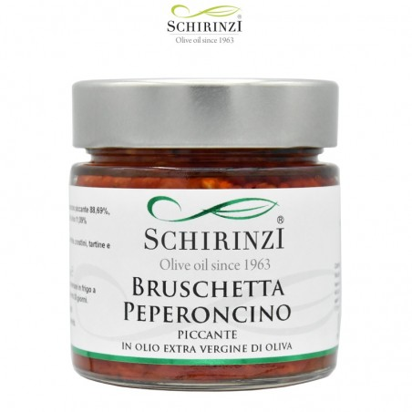 Hot peppers bruschetta 190 gr.