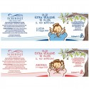 My Baptism - favors or baptism place cards with extra virgin olive oil