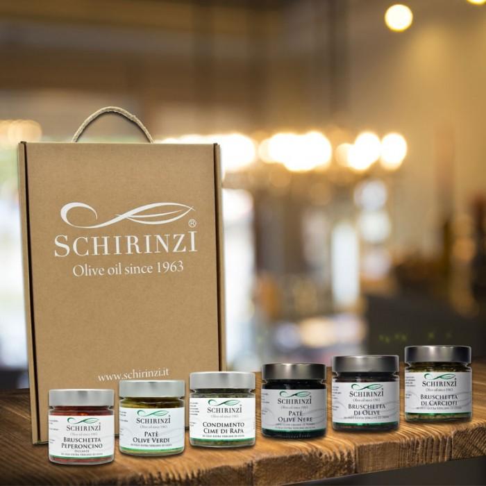 Geschenkbox aufstriche in nativem olivenöl extra