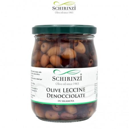 Entkernte Leccine Rosé Oliven in Salzlake 500 gr