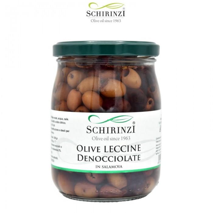 Pitted Leccine rosé olives in brine 500 gr